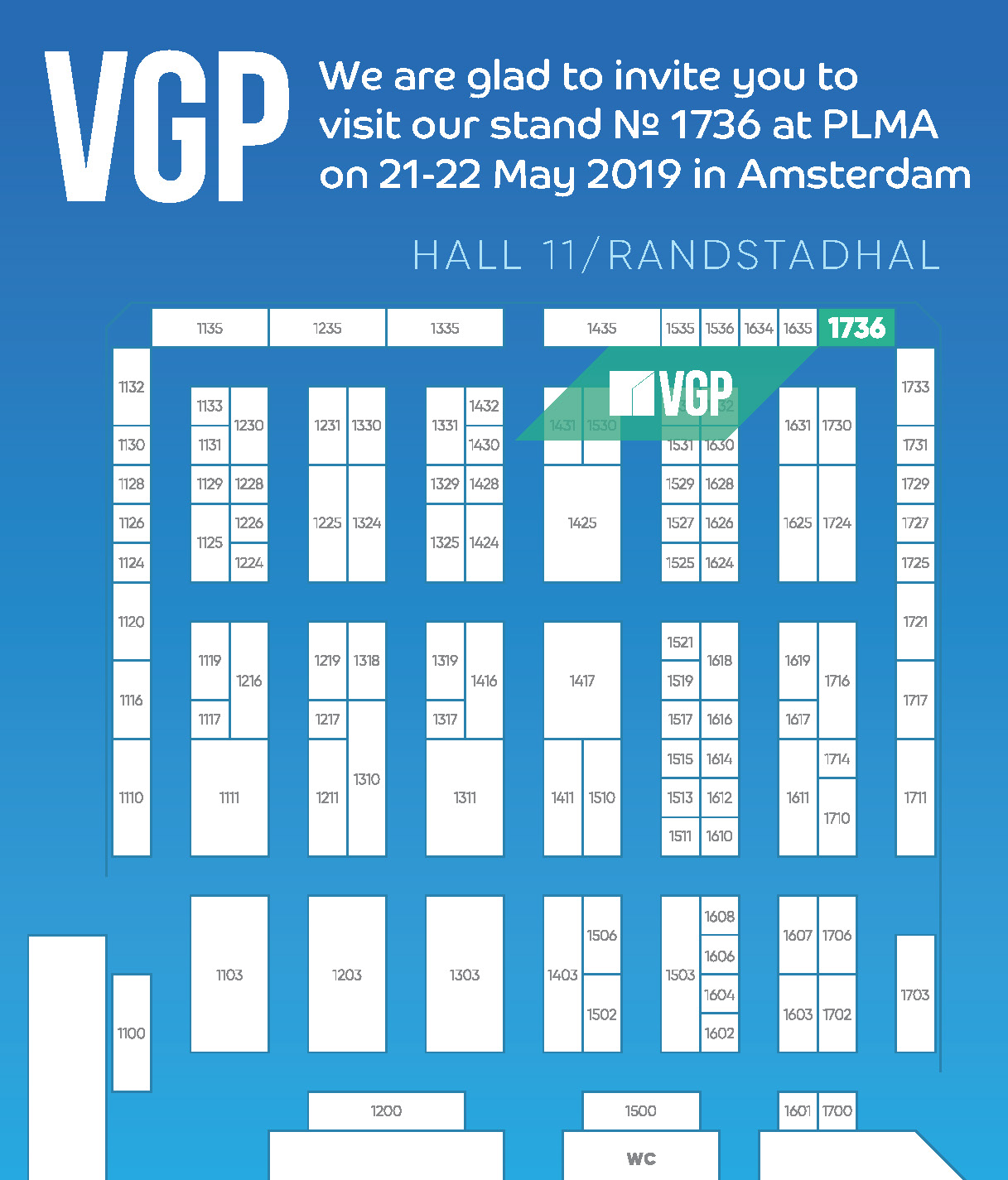 Participation of the VGP Company in the International Exhibition PLMA 2019 in Amsterdam